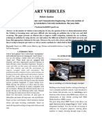 Smart Vehicles Research Paper by Rishab