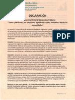 Declaracion-EncuentroNacionalCampesino-Indigena2019