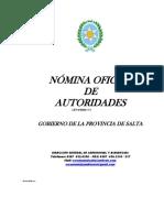 Nomina Autoridades Gobierno Salta