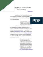 A declaração balfour