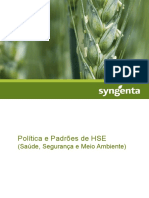 Política e Padrões de HSE