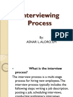 Interviewing Process
