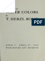 Exhibition of WATER COLORS by T. HERZL ROME