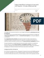 20minutos.es-un Académico Consigue Identificar La Lengua en Que Está Escrito El Manuscrito Voynich El Más Misterio
