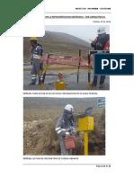 fotos de monitoreo en presa de relaves