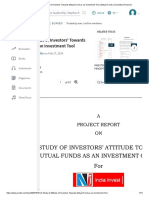 A Study of Attitude of Investors' Towards Mutual Fund as an Investment Tool _ Mutual Funds _ Securities (Finance).pdf