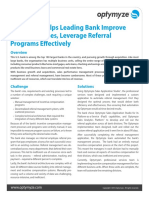 Optymyze Helps Leading Bank Improve Sales Outcomes, Leverage Referral Programs Effectively