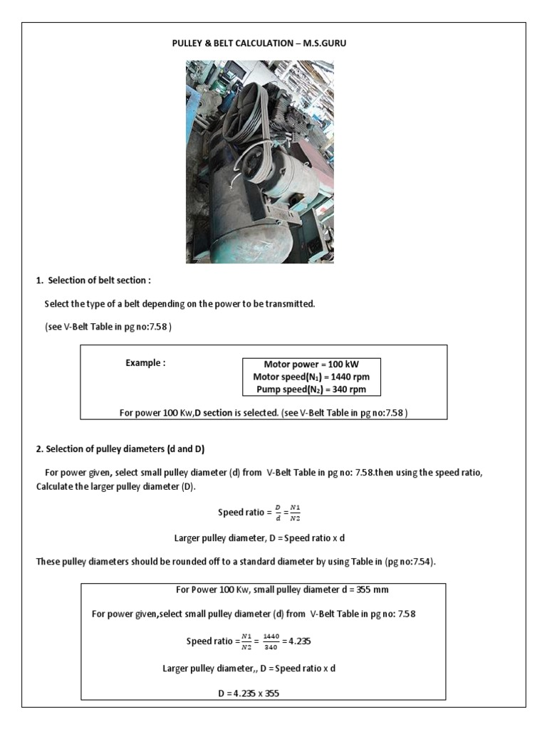 151042913 Design Calculation of Pulley Belt Drive   Belt (Mechanical