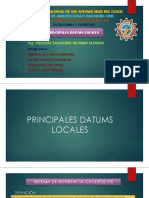 Principales Datums Locales