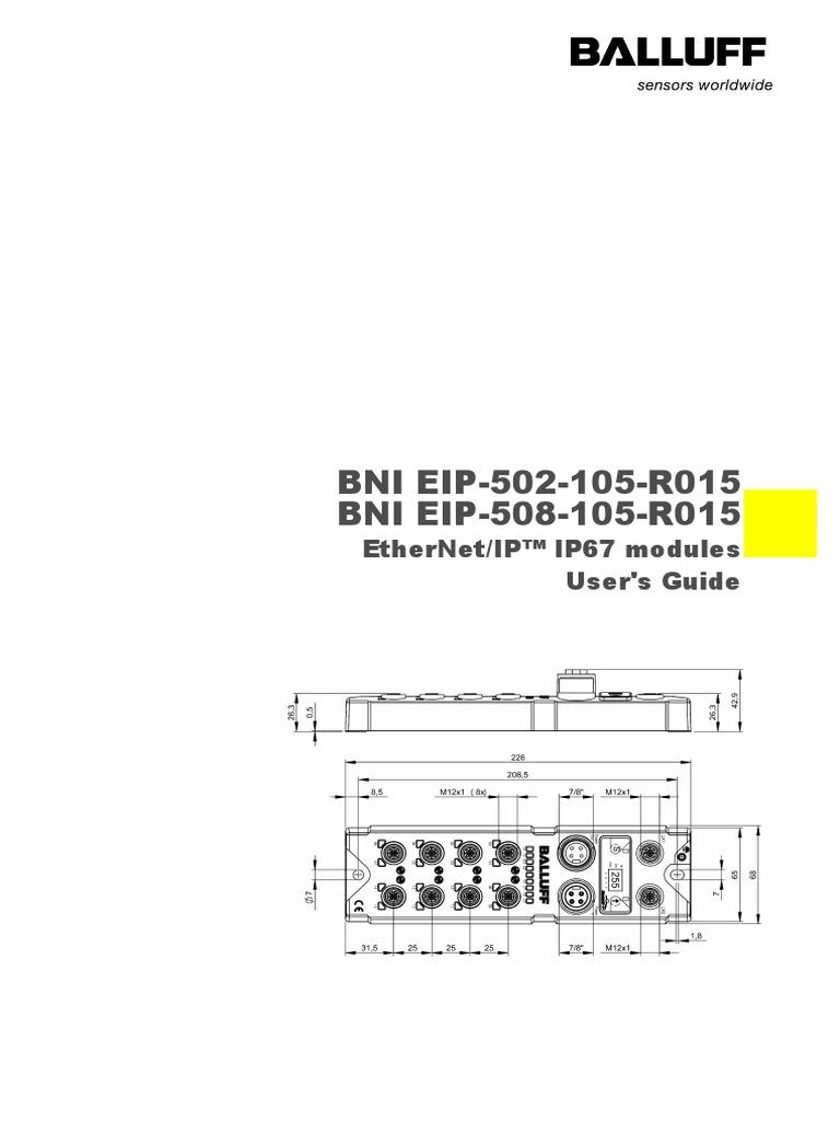 BNI006 Configuration Balluff | Computer Network | Computer Data on