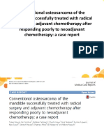 Conventional Osteosarcoma of The
