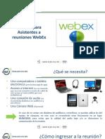 Presentación WEBEX Asistentes 2019