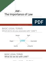 Unit 2 . About Law