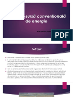 Petrolul-sursă Convenţională de Energie