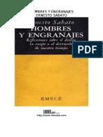Ernesto Sabato Hombres y Engranajes