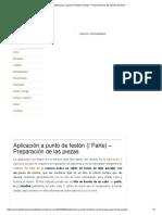 Aplicación a Punto de Festón (I Parte) – Preparación de Las Piezas _ AnAnAs