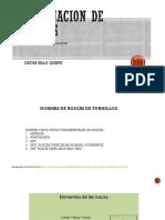 Designacion de Roscados
