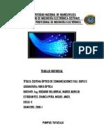 Elementos Del Sistema Óptico de Comunicaciones Full Duplex