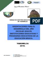 DIRECTIVA N° 001 nuevo 2018 AÑO ESCOLAR