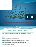 How to write a master Thesis