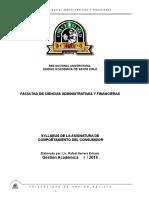 Syllabus COMPORTAMIENTO DEL CONSUMIDOR - Gestión    I  - 2019
