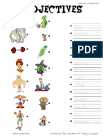 Free Printable Adjectives Spaghetti String and Adjectives Worksheets