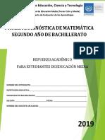 Prueba de Diagnóstico de Matemática Segundo Año de Bachillerato - 2019