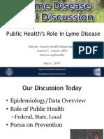Public Health's Role in Lyme Disease