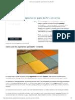 Materiales pigmentados