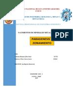 Paragénesis y Zonamiento Metalicos[1]