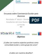 Resultados Estudiantes Encuestas PREVE Nuevo Amanecer 4 básico 2013.ppt