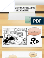 Counselling  and its types of approaches.
