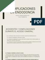 Complicaciones en Endodoncia
