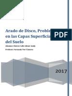 Anteproyecto Arado de Discos Problemas en La Superficie Del Suelo