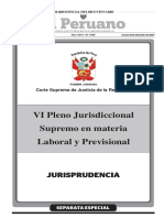 VI Pleno Jurisdiccional Supremo en Materia Laboral