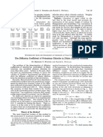 The Diffusion Coefficient of Potassium Chloride in Dilute Aqueous Solution