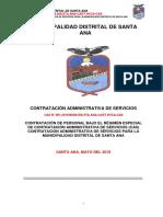 Bases Cas 001-2019 de La Municipalidad Distrital de Santa Ana