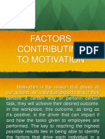 Factors Contributing To Motivation