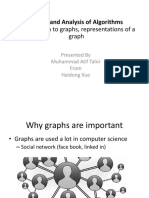 Intro to graphs representations of a graph
