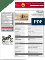 Especificaciones transalp xl700