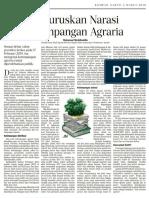 Meluruskan Narasi Ketimpangan Agraria