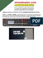 Manual Sin Chip Para Epson Wf2630