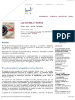 Los Modelos Productivos - Robert Boyer, Michel Freyssenet