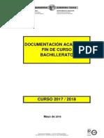 Documentación Académica Fin Curso 2017-2018 BACHILLERATO(1)