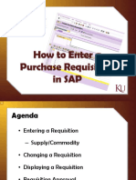 Purchase Requisition Training for SAP