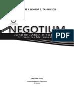 Jurnal Negotium - Vol 1 No 2 - 2018_2