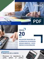 Sesion 20- Evaluacion Financiera de Alternativas de Inversion Analisis Bc y Pr