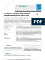 3. FE Analysis of Conceptual Hybrid Composite Endodontic Post Designs in Anterior Teeth