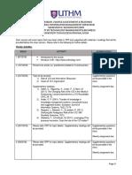 Calendar for Strategic MIS