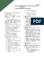 35.Appendix I - List of Prescribed Books
